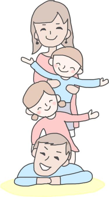 親子4人家族で撮影