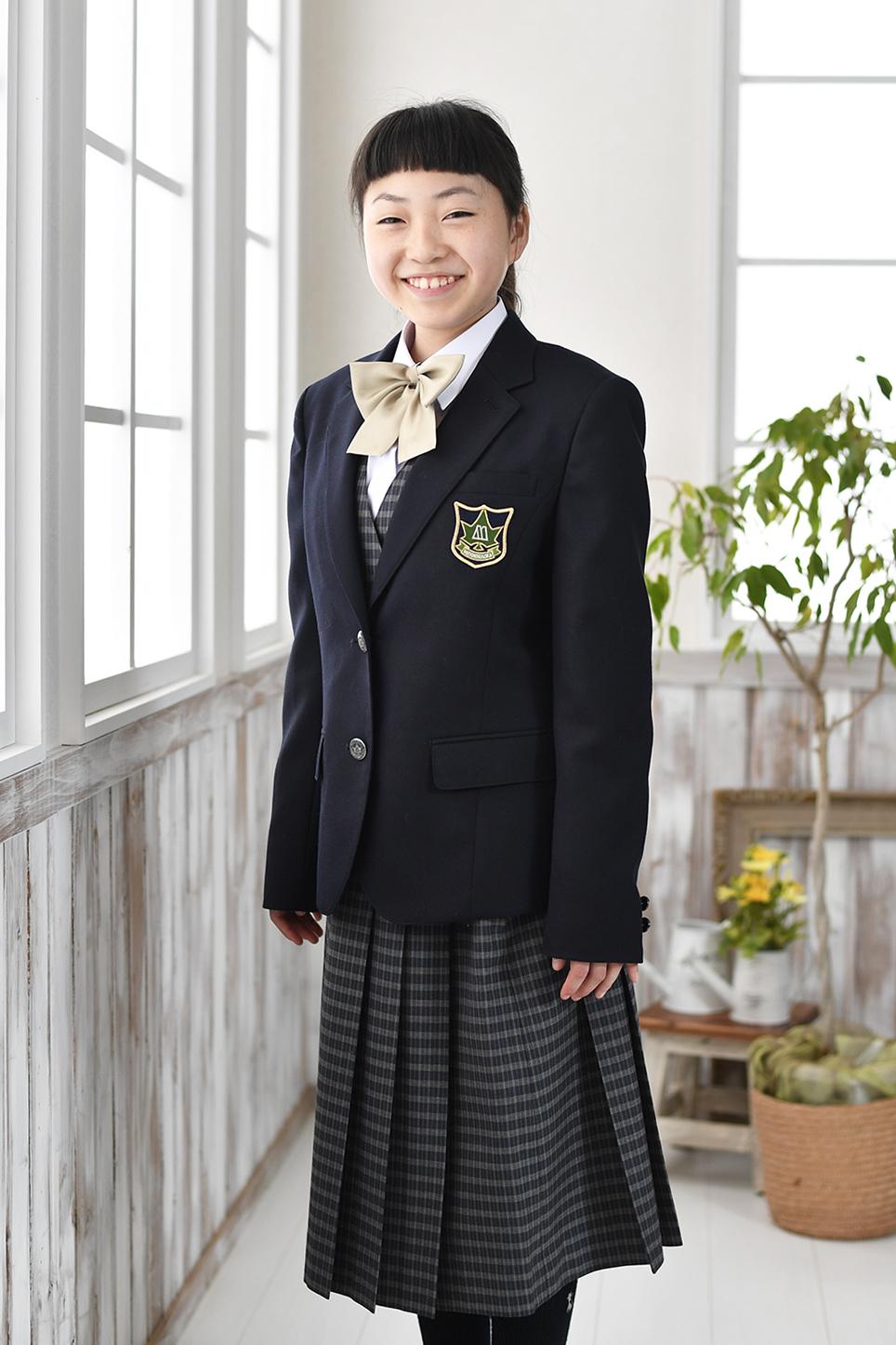 中学入学記念写真