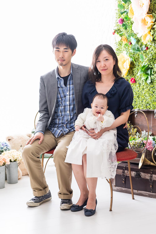 100日赤ちゃん 家族写真